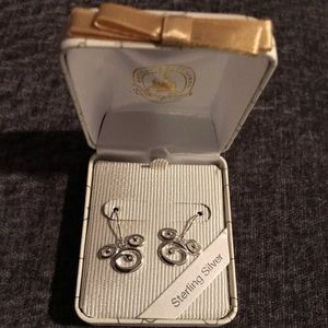 Mickey Mouse Swirl Sterling Silver Earrings